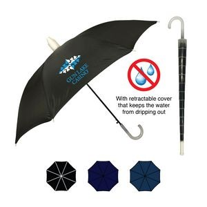 No Drip Umbrella w/ Silver Plastic Handle (46
